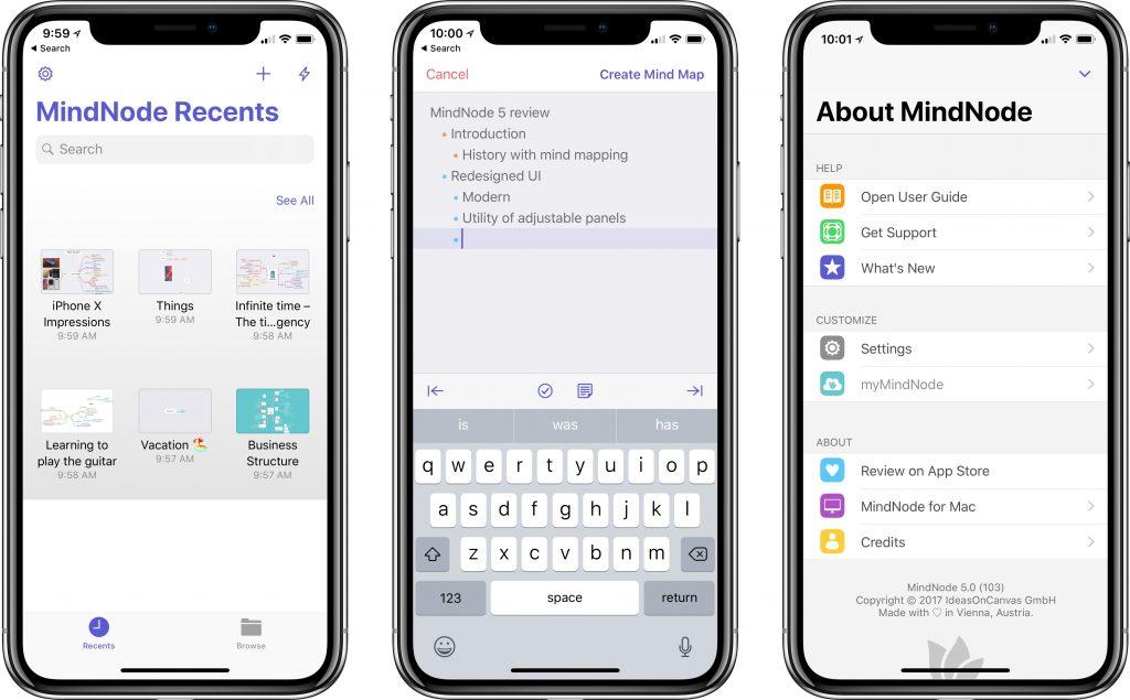 MindNode 5 app